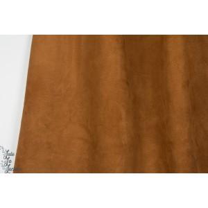 Suéde couleur caramel marron imitation daim suedine