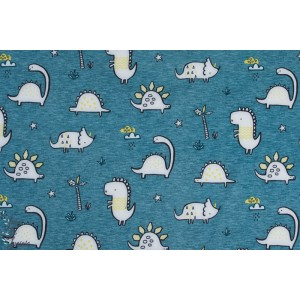Softshell Dino fond bleu