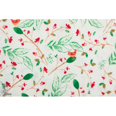 popeline A Walk in the Wood oiseaux windham fabric