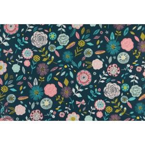 Popeline Dashwood BOHO MEADOW 1377 fleur nature bleu bethan janine