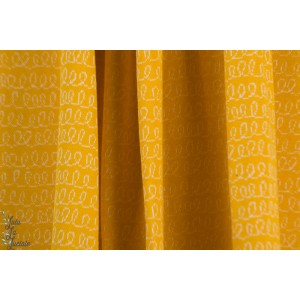 Jacquard Bio Luiaard Waves Yellow Lillestoff Bora