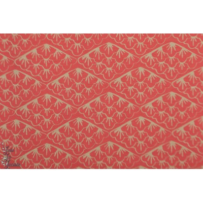 Modal Felicita Kombi Lillestoff graphique japon lotus rouge mode femme