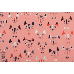 Popeline Cool for Cats 1387 Dashwood Studio chat Ali Brokes patch plaid rose