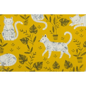 Popeline Cool for cats 1383 dashwood studio bethan Janine chat jaune
