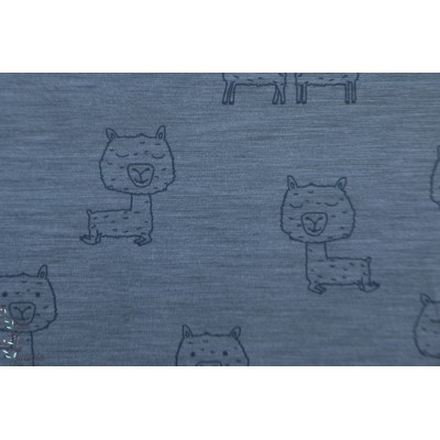Jersey bio Al Paka Lillestoff graphique animaux bleu