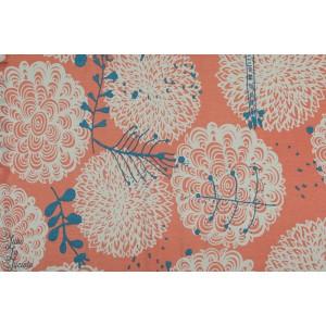 Modal Chrysantema Coral Lillestoff fleur mode autonme corail graphqiue