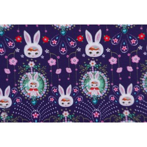 Sweat Fiona HEwitt winter bunny blue graphqiue lapin retro vintage