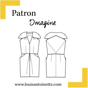 couture Patron Louis et Antoinette  Robe IMAGINE, femme, mod,moderne