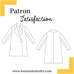 Patron couture Manteau SATISFACTION femme, Louis et Antoinette, mode, moderne