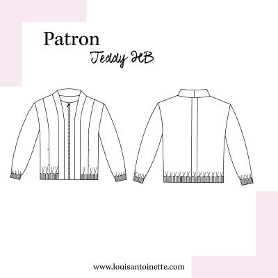 PAtron COUTURE FEMME  veste TEDDY HB de Louis et Antoinette, mode,moderne,