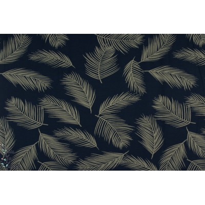 Modal Blue Palm Lillestoff végétal plume bleu mode femme