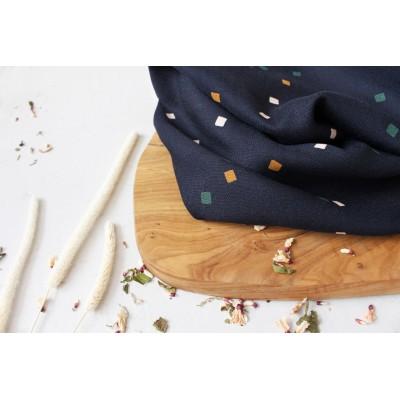 Viscose Atelier Brunette Shine Night graphique bleu mode femme