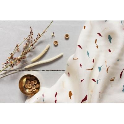 Viscose Atelier Brunette tabby Shell blanc mode femme graphique