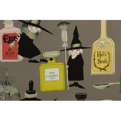 Popeline AH Potion and Lotions alexander henry coton halloween sorcière