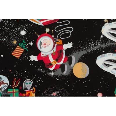 """Popeline Alexander Henry Santa in space black noel dans l""""espace pere"""