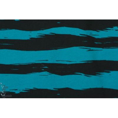 Sweat Petra Laitner ''Pingu Stripes'' Hilco rayure bleu petrole noir