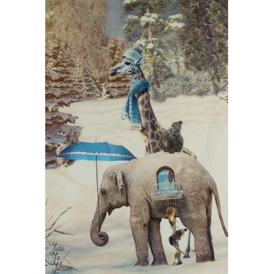 Panneau Sweat éléphants en hiver stenzo