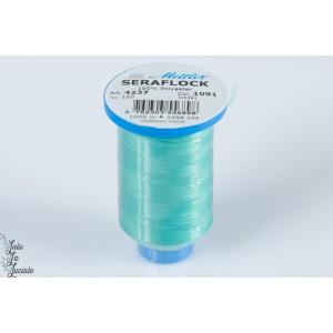 Cône  fil mousse SERAFLOCK vert 1091, élastique,surjeteuse,machine à coudre,jersey,