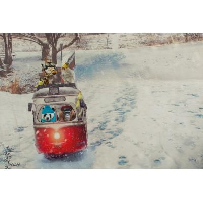 Panneau jersey Digital Stenzo téléphérique animaux sport hiver neige montagne