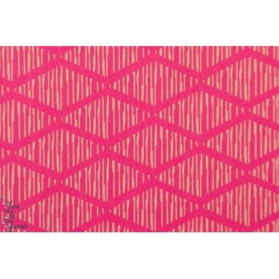 Popeline AGF rhombi  Abroad from Crafbound art galley graphique géométrique rose