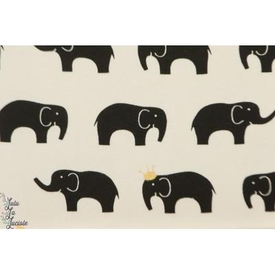 Jersey Bio BIRCH  Elephants Inkwell graphique noir blanc