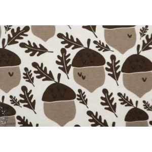 Jersey Bio Elvelyckan Acorn Mocha gland graphique chocolat