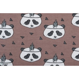Sweat bio Elevelyckan Panda mauve animaux graphique enfant