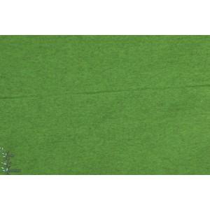 Kuschelsweat bio vert chinée, sweat bio molletonné lillestoff, bien douox et chaud