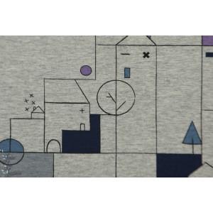 Tissu molletonné ou pour sweat-shirt City Landscape Katia Fabrics