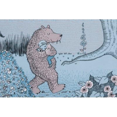 Jersey bio Im Gruselwald SUSALabim nuit ours loup enfant bois lillestoff