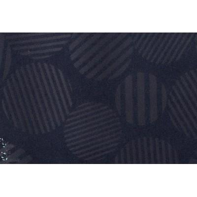 tissu coton japonais épais, pour veste ou manteau Broken Sateen en Bleu nuit by Kokka