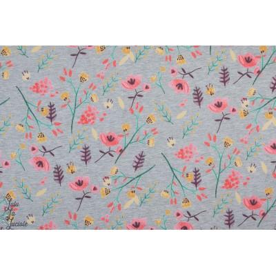 Softshell fleurs des champs colorés manteau impermeable chaud fille