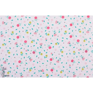 Tissu Jersey Savanna Pink Flowers Katia Fabric