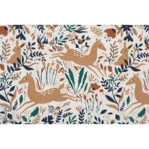 Tissu Popeline Wild Forest - biche Katia fabric