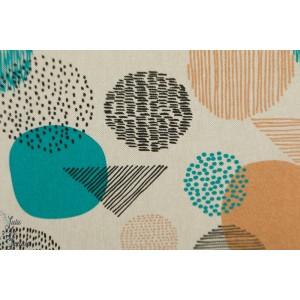 Tissu Canvas Gold Geometric Aqua graphique katia coton accessoire