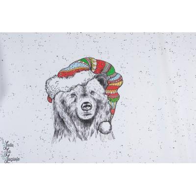 Jersey bio Weihnatchtstiere Lillestoff panneau ours cerf animaux noel chrismas