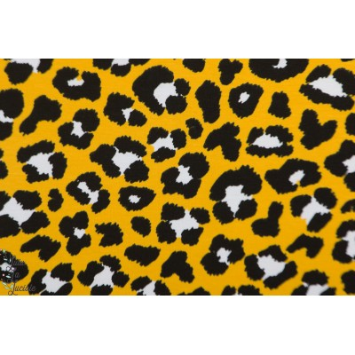 jersey Léopard Stenzo jaune et noir pelage animaux graphique afrique