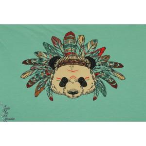 Panneau jersey Panda Indien menthe vert enfant