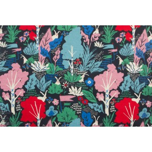 jersey bio Birch Wonderland alice au pays des merveilles graphique bleu