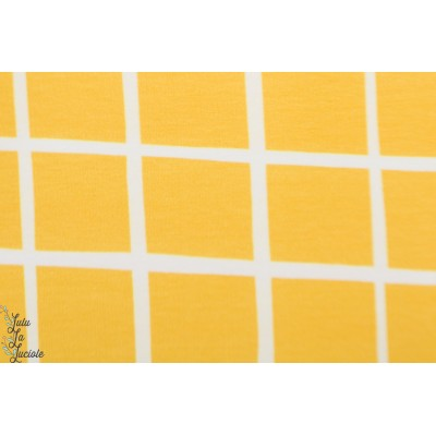 Sweat bio à carreau jaune Eva Mouton quadrillé graphique