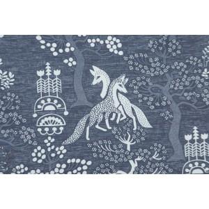 Jersey Digital Elamanpuu Bleu gris Verson Puoti renard arbre de vie
