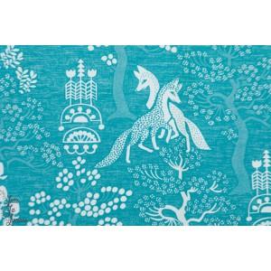 Jersey Digital Elamanpu Turquoise arbre de vie bleu verson puoti renard