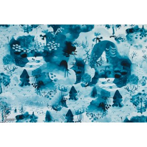 Jersey Digital Kokimetsa Bleu paysage esquisse verson puoti