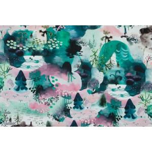 Jersey Digital Kotimetsa Pink - Verson Puoti paysage esquisse peinture