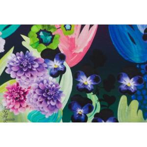 Jersey Digital Kukkakimppu Bouquet  coloré foncé fleur verson puoti
