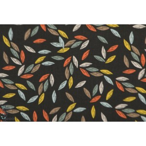 Popeline leaves Charoal EMI 1407 EMI&BIRD dashwood Studio graphique feuille marron