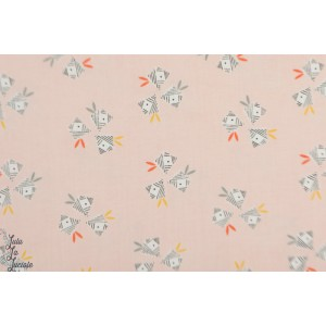 Popeline Floral Light Pink EMI 1408 EMI&BIRD Dashwood Studio fleur rose