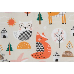 Popepline Animals Multi Geo Forest animaux forêt dashwood studio
