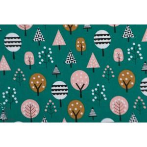 Popeline Trees Geo Forest 1395 Dashwood Studio