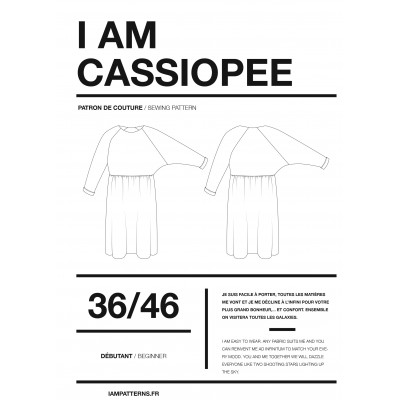 Patron couture  robe CASSIOPEE femme de I AM Patterns.